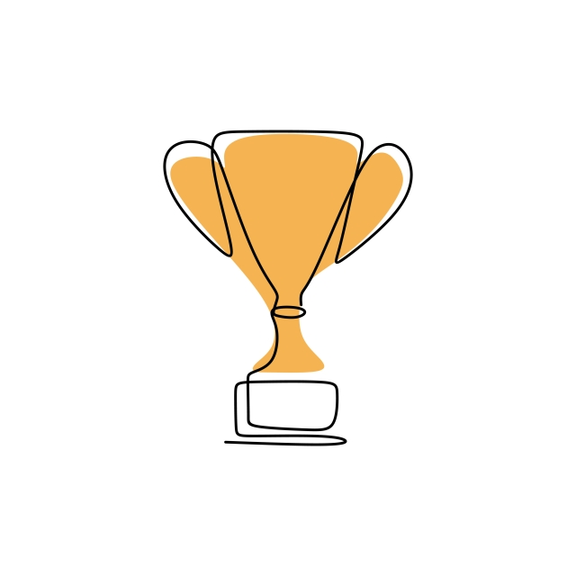 Trophy Line Drawing | Free download on ClipArtMag