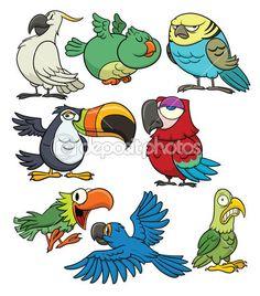 Tropical Bird Drawing