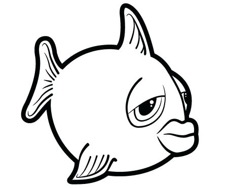450x371 fish outline drawing tutorials draw cartoon fish tropical fish
