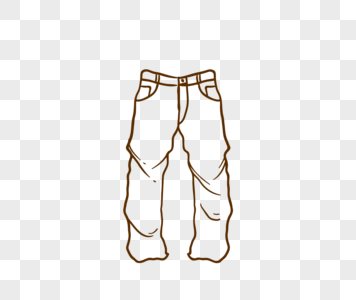 356x300 line drawing clothing, clothing, trousers, vector material