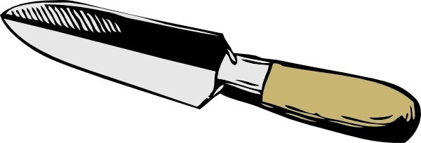 600x204 narrow trowel clip art free vector in open office drawing