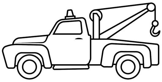 530x270 tow truck cartoon drawing lineart and coloring sheet tow truck