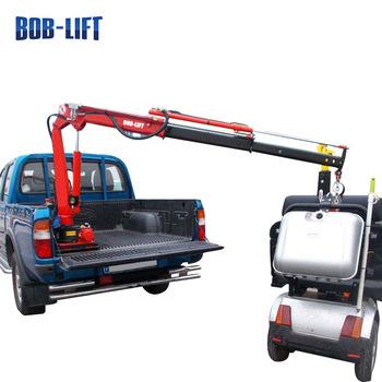 350x350 mini mobile pickup crane pickup truck crane with cable winch