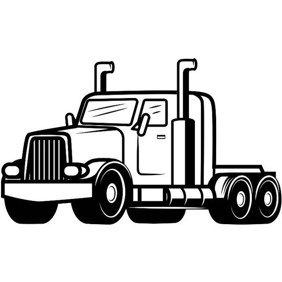 Truck Driver Drawing