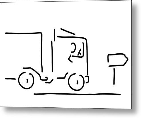493x413 occupational motorist truck driver metal print