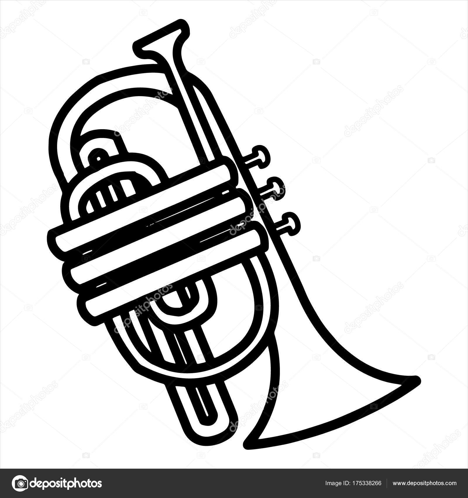 Trumpet Cartoon Drawing