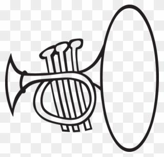 320x307 Cartoon French Horn Trumpet Tattoo, Chalkboard Decor