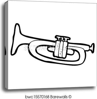 382x390 Cartoon Pink Trumpet, Canvas Print Barewalls Posters Prints