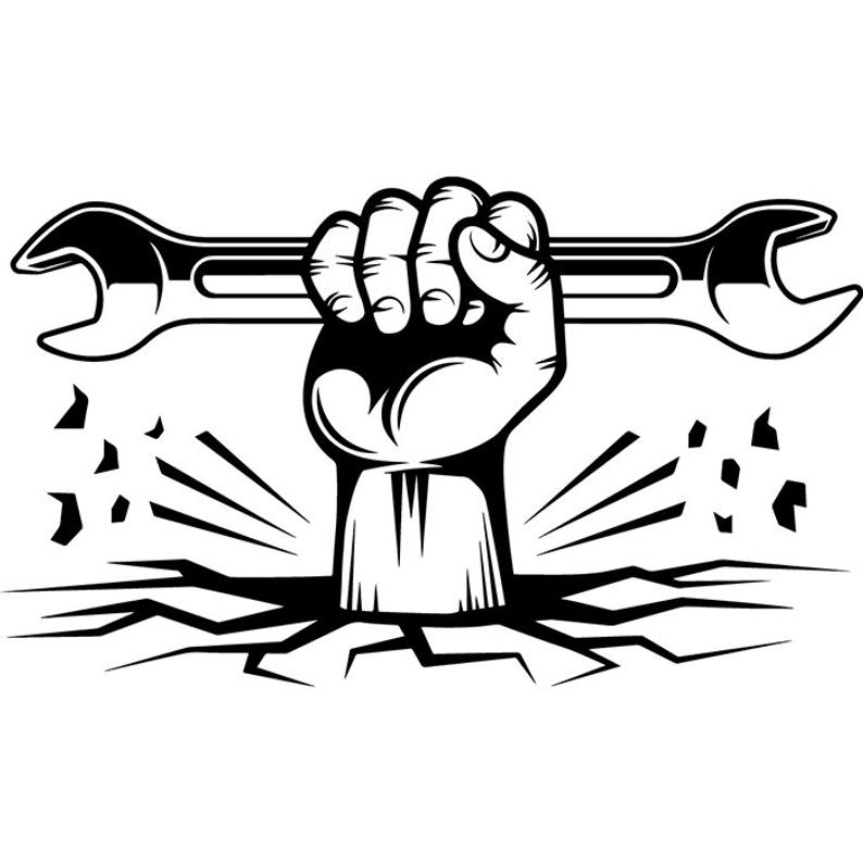 794x794 Construction Logo Mechanic Plumbing Hand Wrench Toolbox Etsy