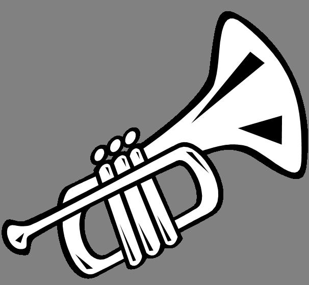 606x559 Trumpet Cartoon Drawing