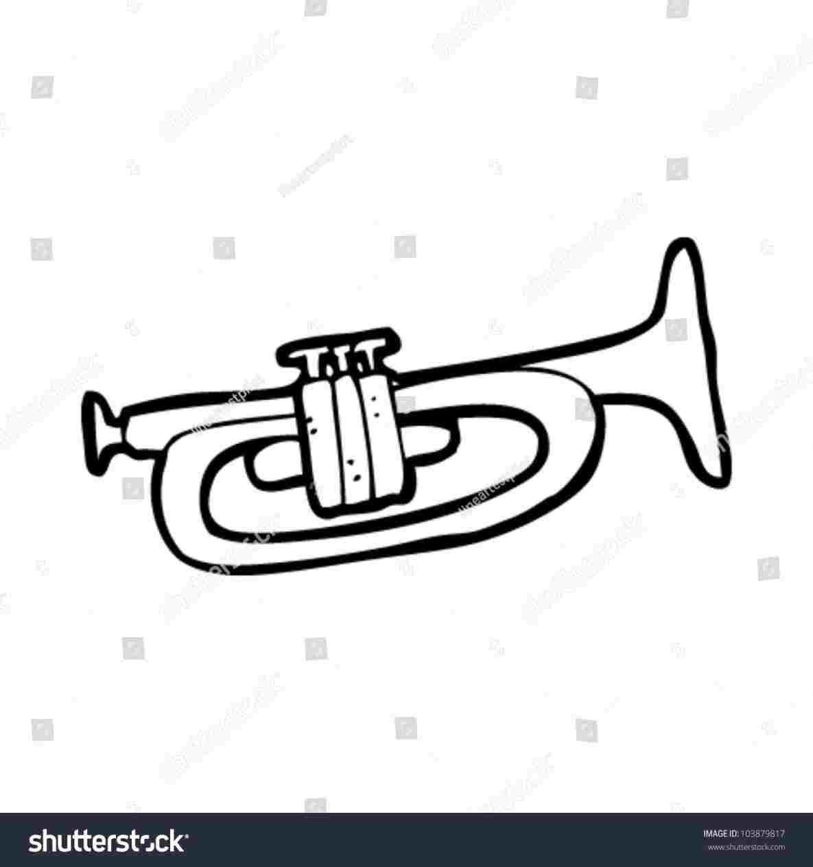 1185x1264 Cartoon Trumpet Drawing