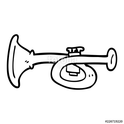 500x500 Line Drawing Cartoon Metal Trumpet Stock Image And Royalty Free