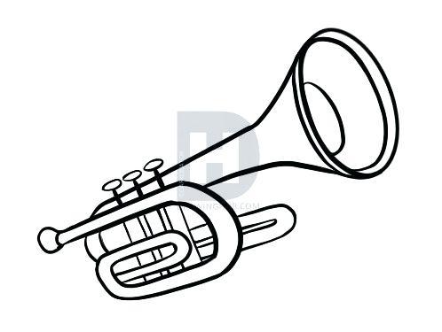 498x375 Trumpet Drawing