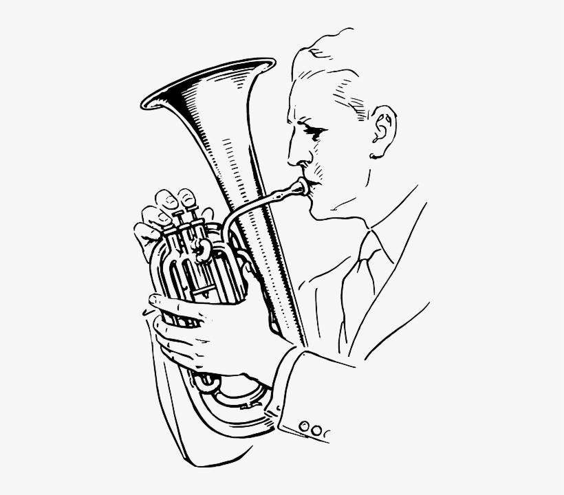 820x720 Alto Music, Man, Person, Cartoon, Horn, Playing, Alto