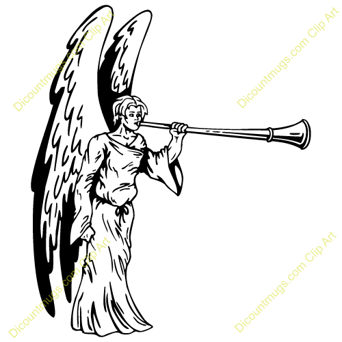 500x500 Angel Blowing Trumpet Clipart Collection