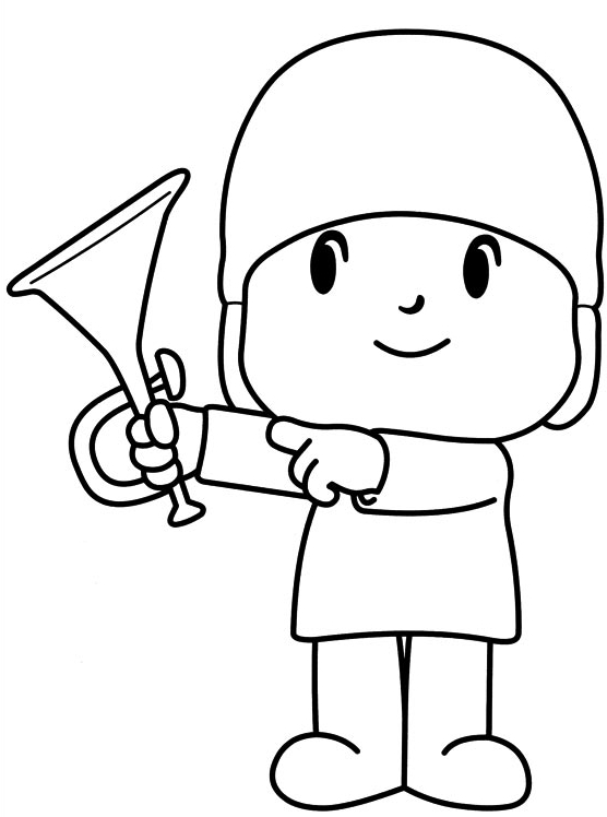 556x748 Drawing Indicating His Trumpet Coloring Page