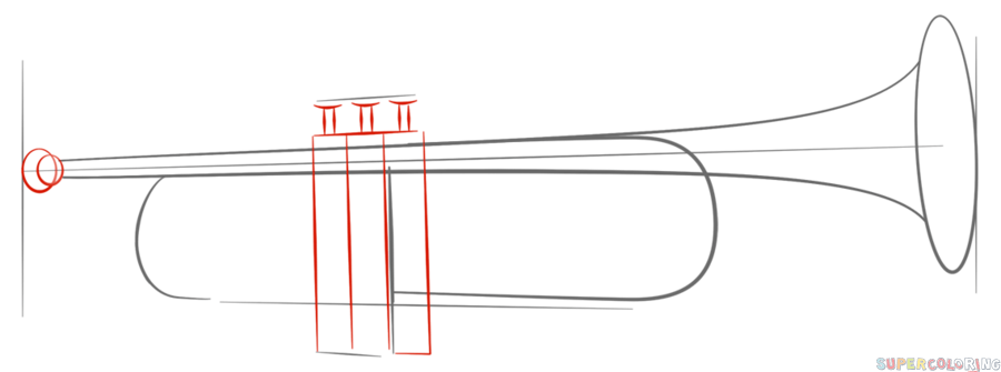 900x335 How To Draw Trumpet Step
