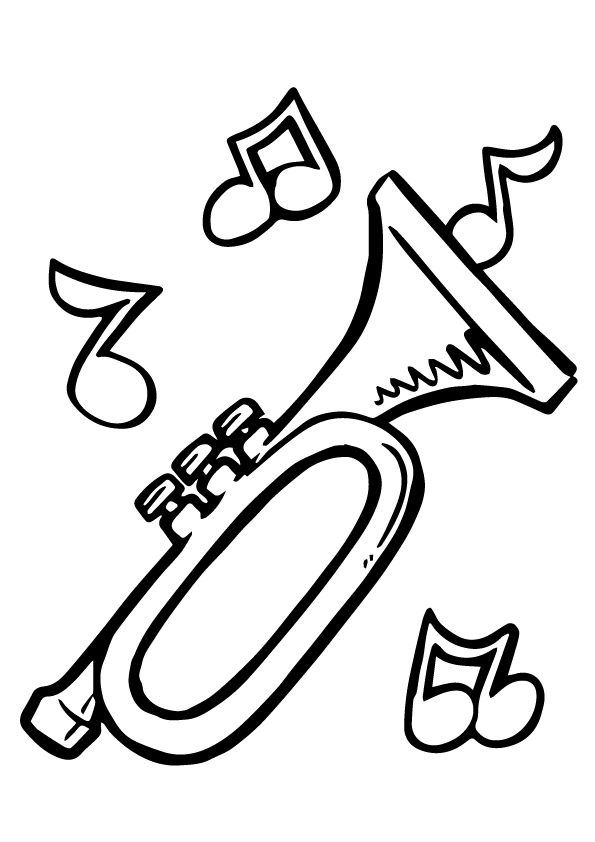 595x842 Trumpet Drawing Printable For Free Download