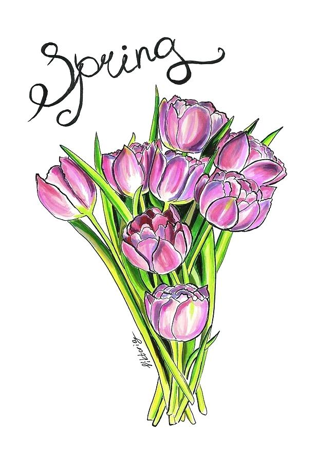 654x900 drawing tulips tulips tulips drawing easy