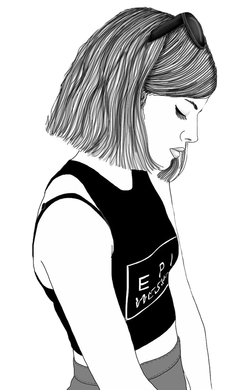 1024x1592 Huge Collection Of 'hipster Girl Drawing Tumblr' Download More