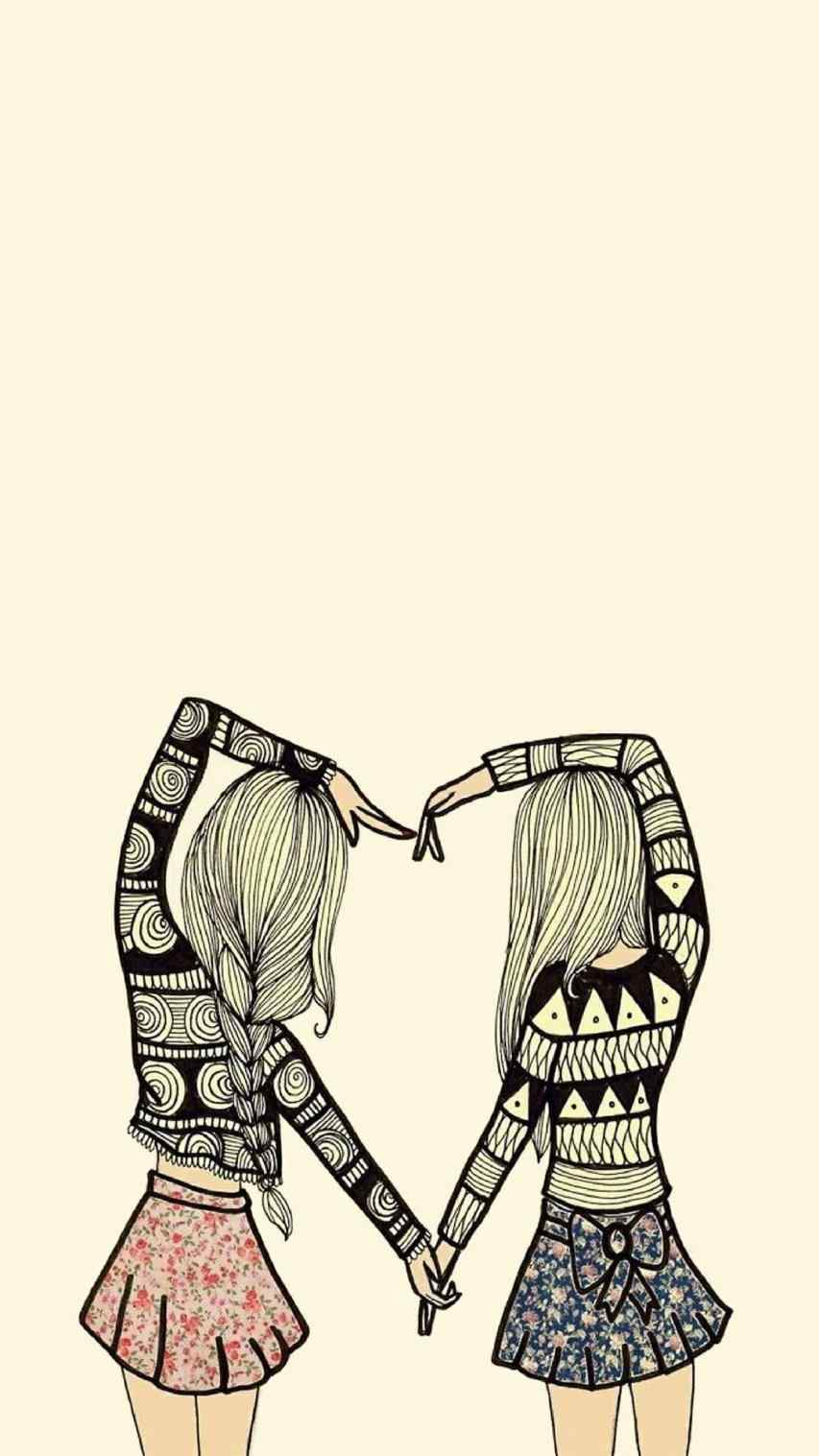 853x1517 best friend drawings tumblr gallery cute best friend drawings