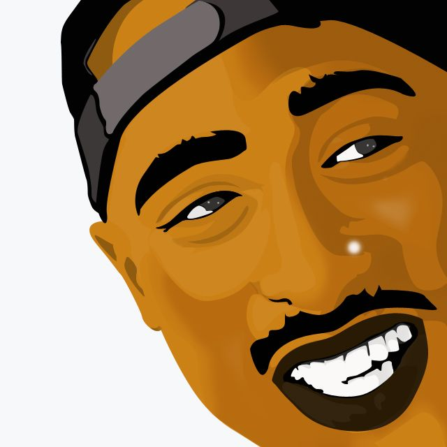 640x640 Photoshop Drawing Of Shakur Steemit