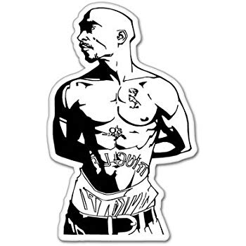 350x350 Tupac Shakur Rap Vynil Car Sticker Decal