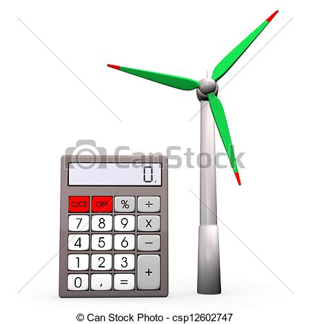 450x470 calculator wind turbine a pocket calculator with wind turbine