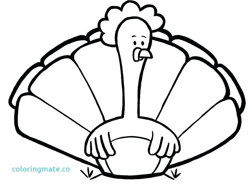 Turkey Drawing Outline | Free download on ClipArtMag