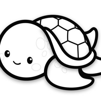 336x336 Turtle Drawing Images Tags Coloring Pages Quotes Contour Line