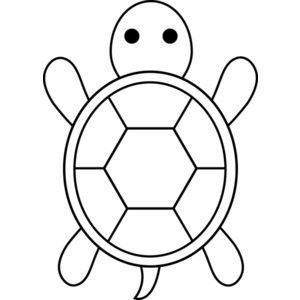 300x300 Turtle Outline Clipart Black And White
