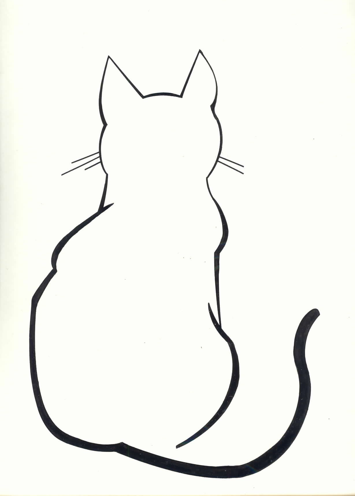1229x1717 Diy Cat Silhouette Pillow Cases Mentions Cat Outline Tattoo