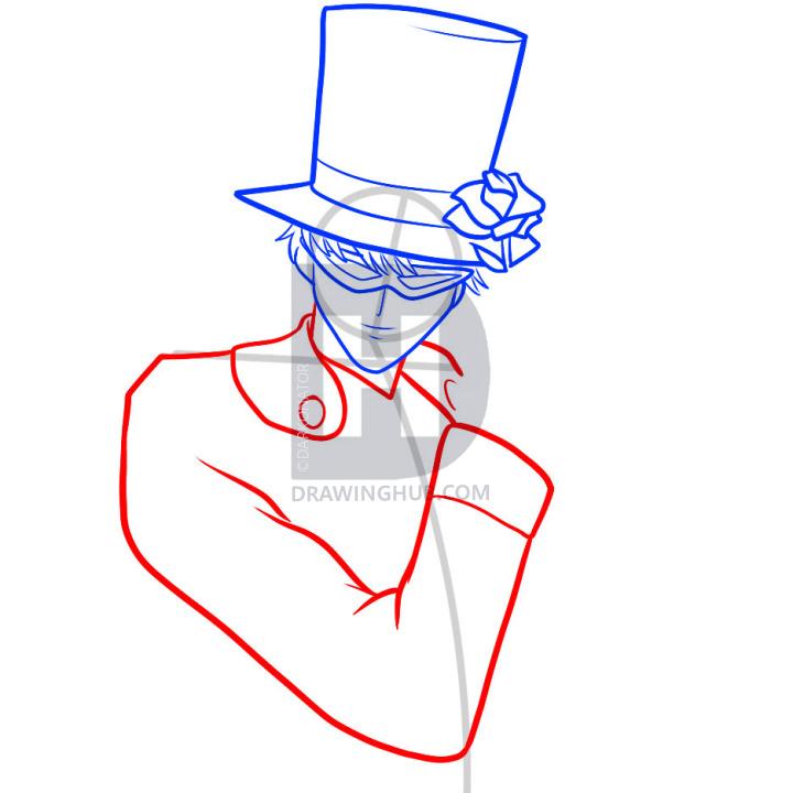 720x720 How To Draw Tuxedo Mask, Tuxedo Mask, Step