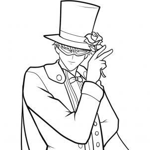 302x302 How To Draw Tuxedo Mask, Tuxedo Mask, Step