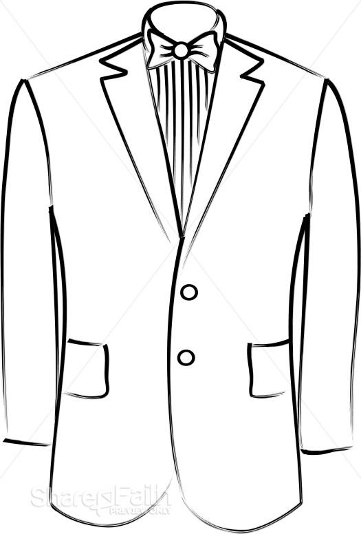 525x776 Tuxedo Jacket Christian Wedding Clipart