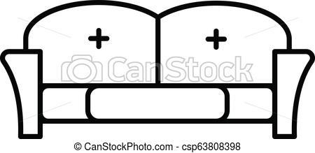 450x219 Tuxedo Sofa Icon, Outline Style Tuxedo Sofa Icon Outline Tuxedo