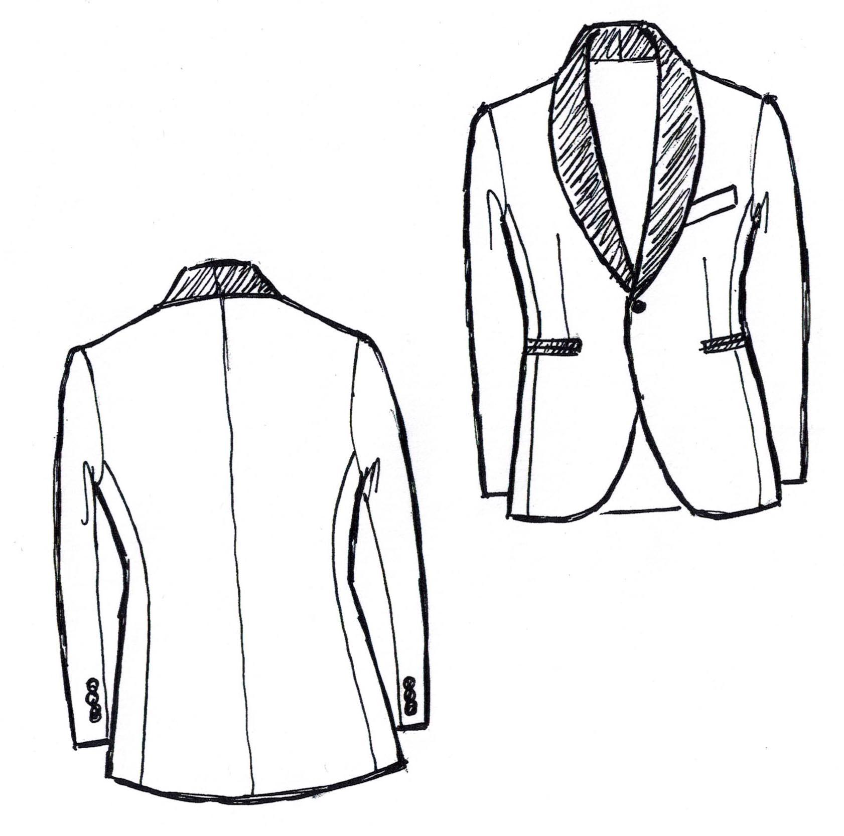1682x1667 Tuxedo Drawing Tuxedo Jacket For Free Download