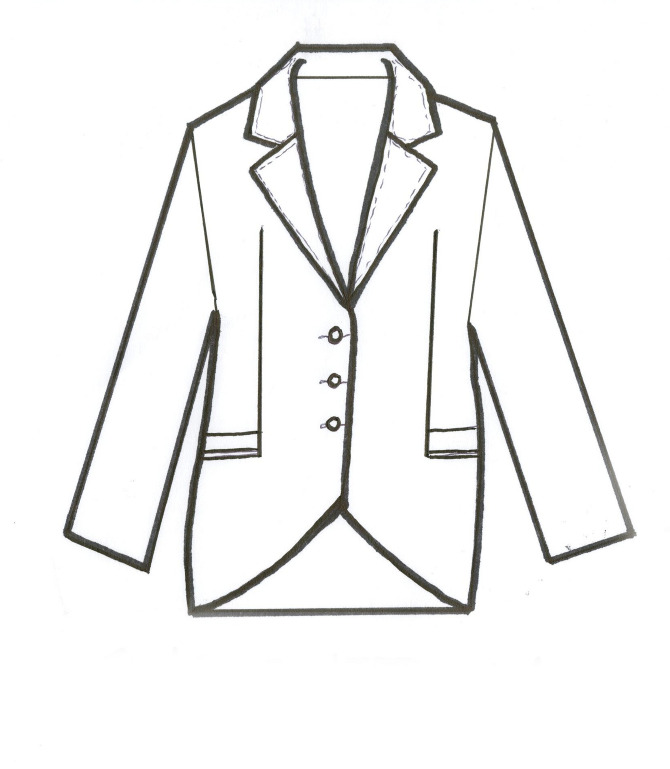 670x769 Tuxedo Drawing Technical For Free Download