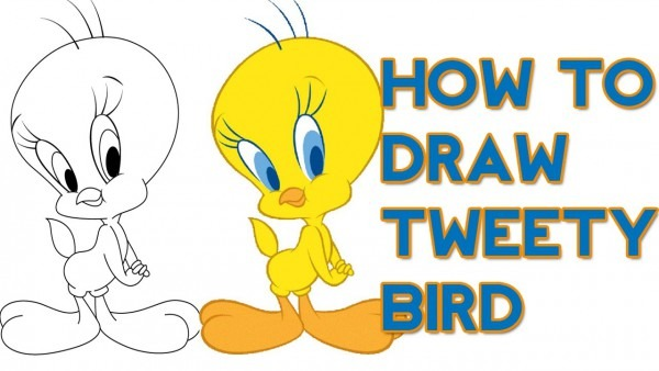 600x338 Tweety Bird Drawing