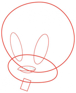 249x302 How To Draw Tweety Looney Tunes