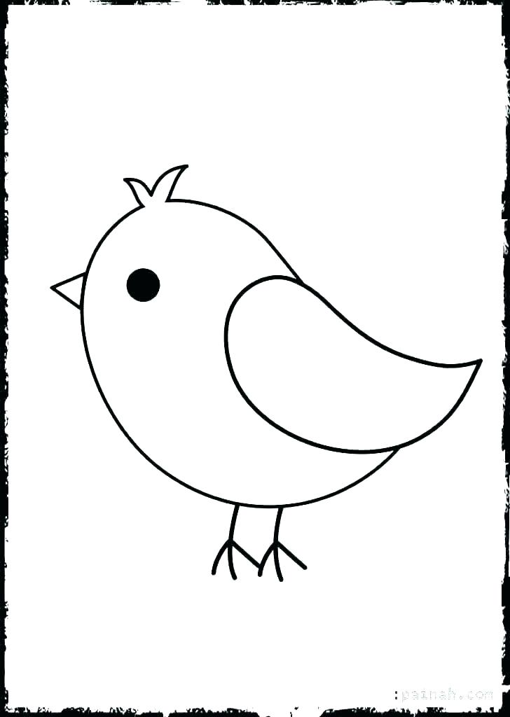 728x1024 Tweety Bird Outline Coloring Astounding Outline Of Bird Outline