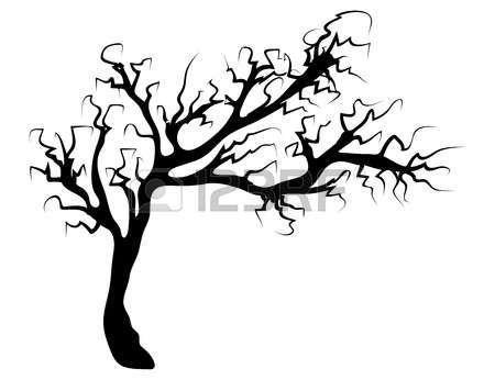 450x346 creepy halloween creepy scary bare tree vector symbol icon design