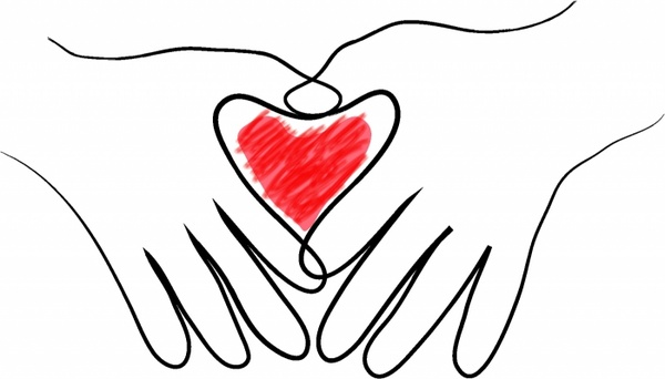 600x342 Heart In Two Hands Free Vector In Adobe Illustrator