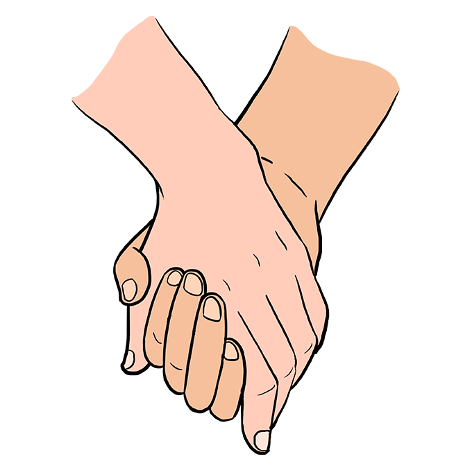 680x678 How To Draw Holding Hands