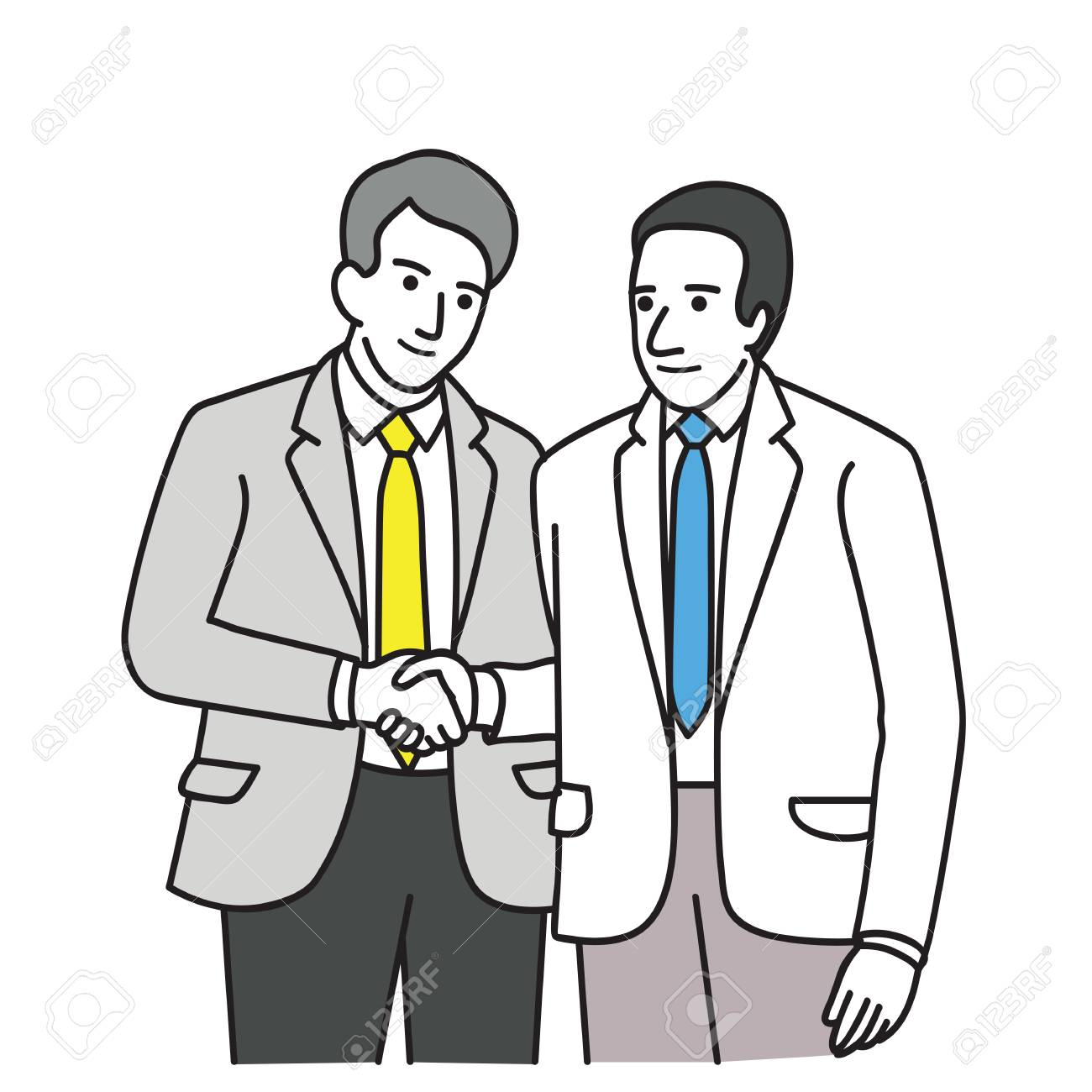1300x1300 Two People Shaking Hands Drawing
