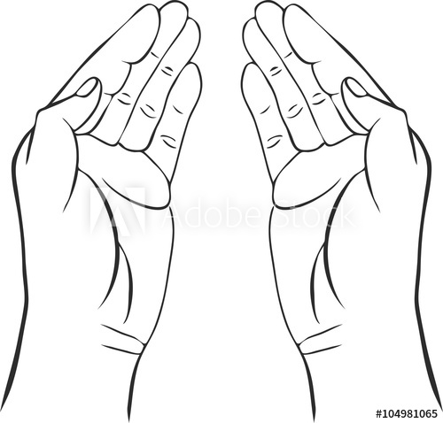 500x478 Two Hands With Open Palms