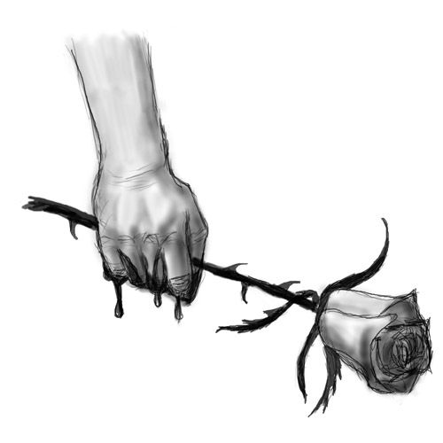 500x500 Two Joined Hands Thread Left Holding The Rose So Gothic