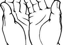230x155 Drawing Hands Coloring Pages Best Place To Color