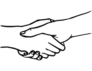 Two Hands Holding Drawing