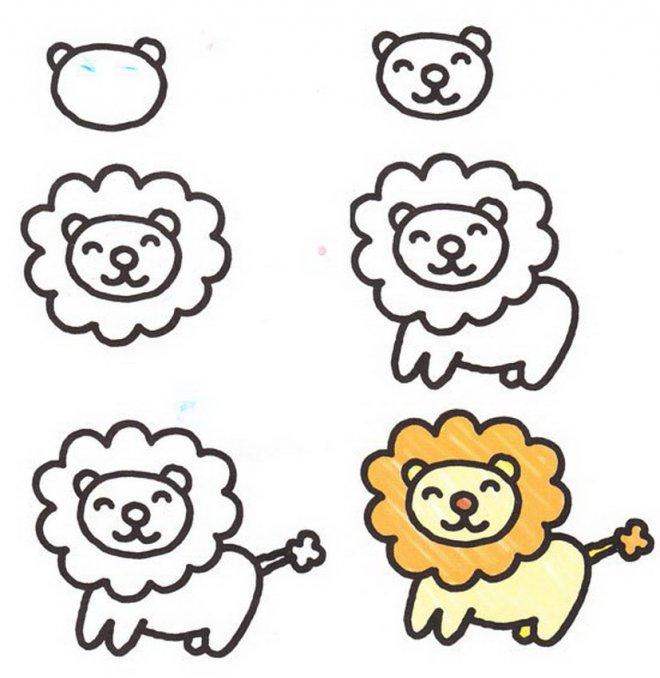 660x678 Simple Drawing For Kids Step